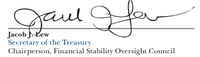 Lew's signature in a Treasury report.