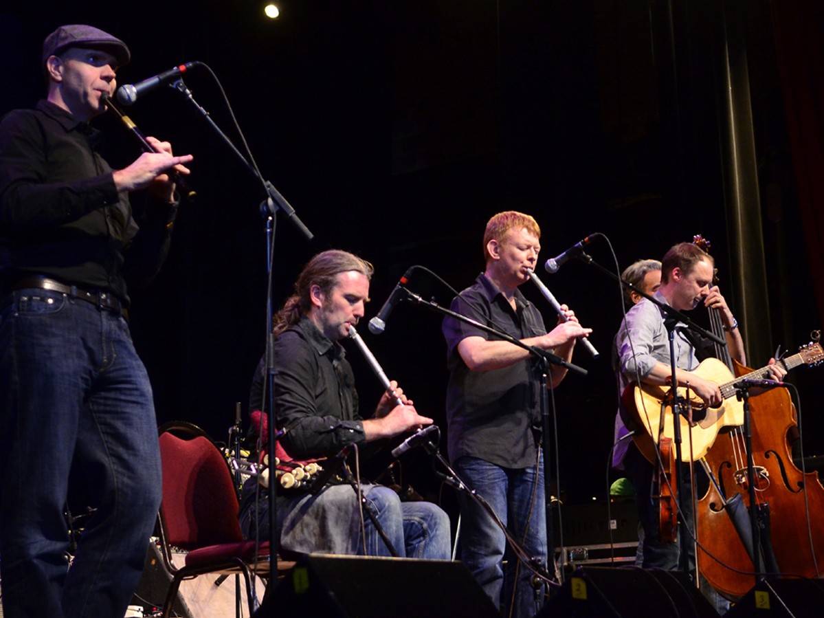 Lunasa performs on Mountain Stage at the Paramount Theater in Bristol, Tenn./Va.