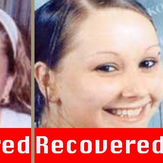 Undated photos provided by the FBI show Amanda Berry (left and center). The photo at right has been aged progressed to show Berry at age 20.