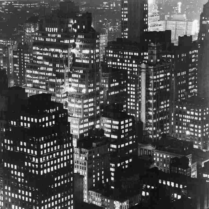 November 1946: New York City by night, seen from the Empire State Building.