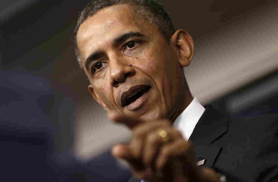 President Obama answers questions during a news conference on April 30.