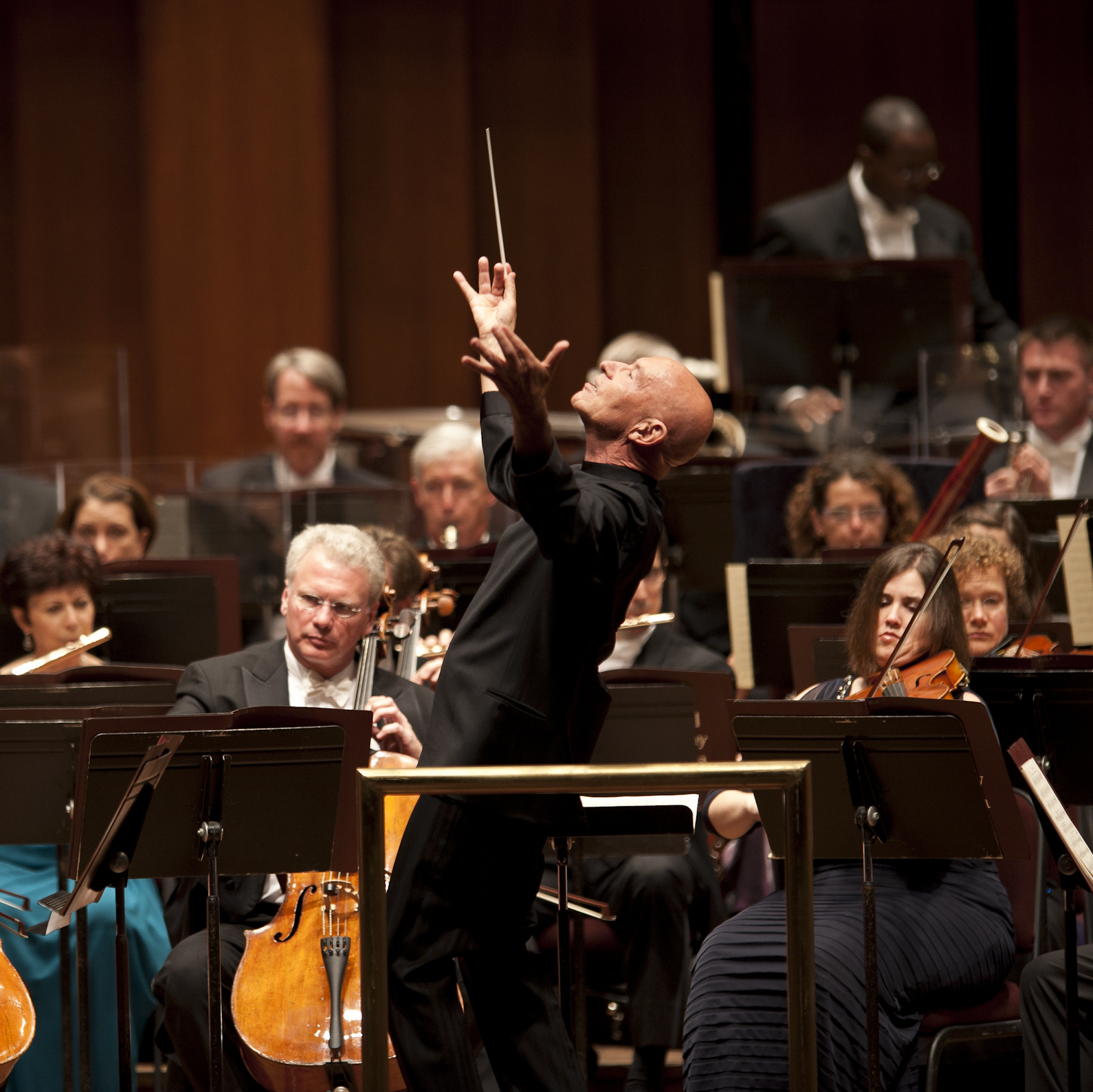 Conductor Christoph Eschenbach and the National Symphony Orchestra.