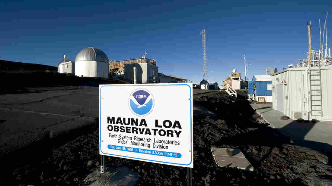 "Carbon dioxide readings at the Mauna Loa Observatory in Hawaii have reached what atmospheric scientist Ralph Keeling calls a ""psychological threshold"" of 400 parts per million. The amount of carbon dioxide in the atmosphere has been steadily increasing since near-constant measurements began at the observatory in 1958."