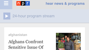 See A New NPR Homepage On Your Smartphone