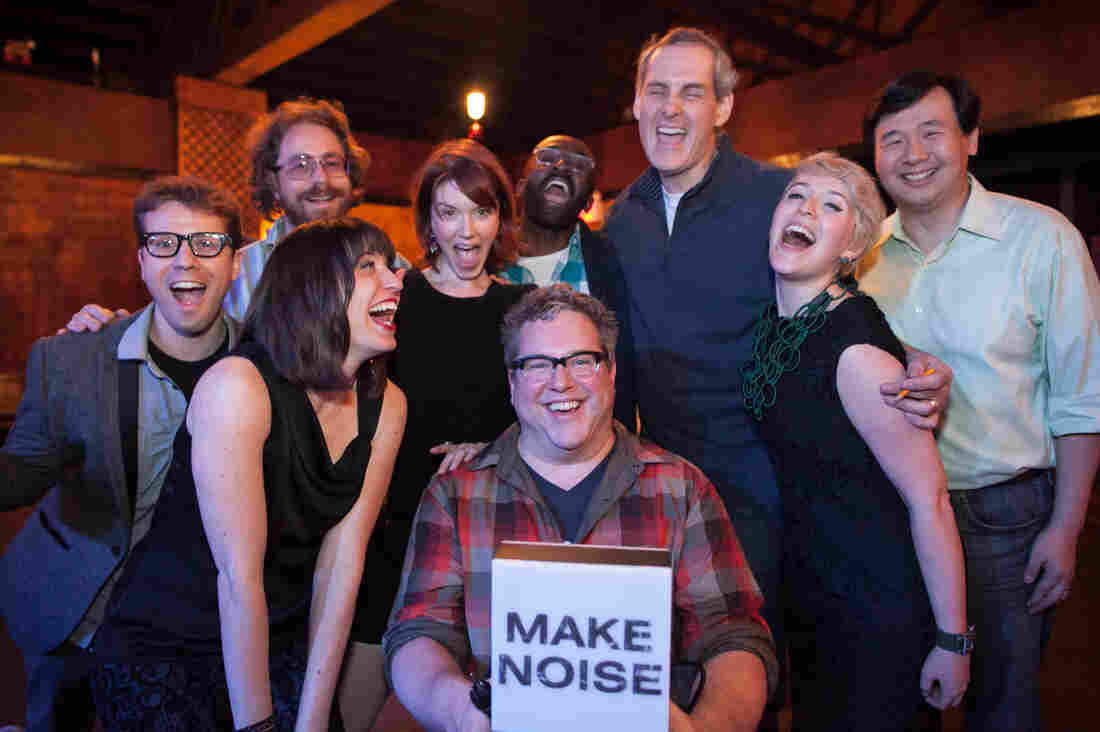After a taping of NPR's newest quiz show Ask Me Another, the show's staff followed their own cue to 'Make Noise.'