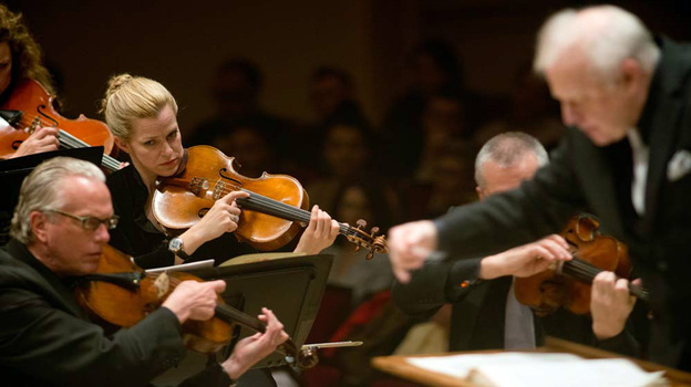 Leonard Slatkin leads the Detroit Symphony Orchestra at the Spring for Music festival at Carnegie Hall. (for NPR)