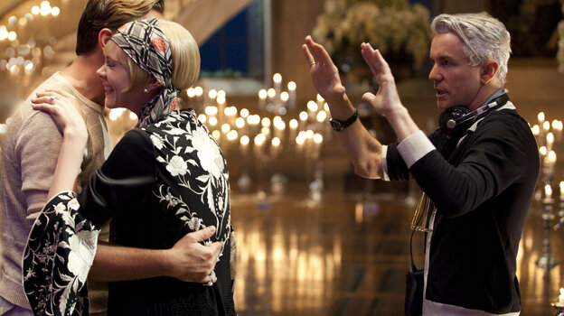 Light It Up: Director Baz Luhrmann (right, with stars Leonardo DiCaprio and Carey Mulligan on the set of The Great Gatsby) brought a lush visual sensibility to a tale whose tone not everyone thinks of as epic.
