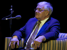 Former U.S. Rep. Barney Frank as Ask Me Another's Very Important Puzzler, at the Wilbur Theatre in Boston.