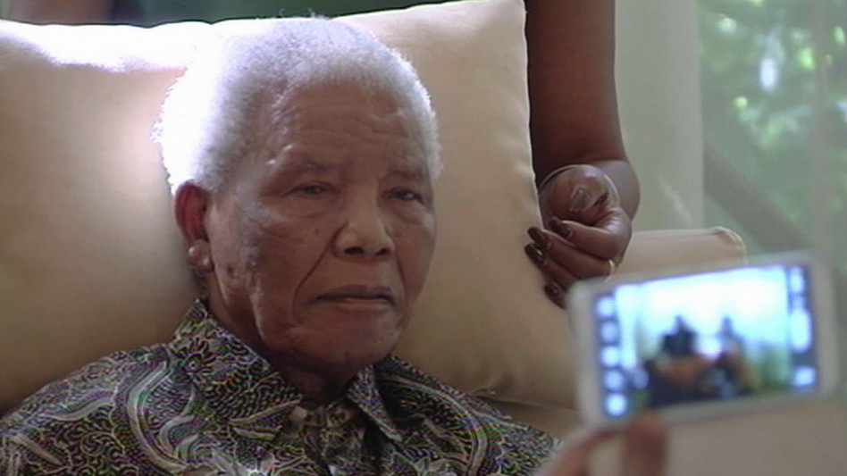 The poor health of the anti-apartheid icon (shown here in this image taken from video April 29) has attracted a swarm of foreign journalists to South Africa. (AP)
