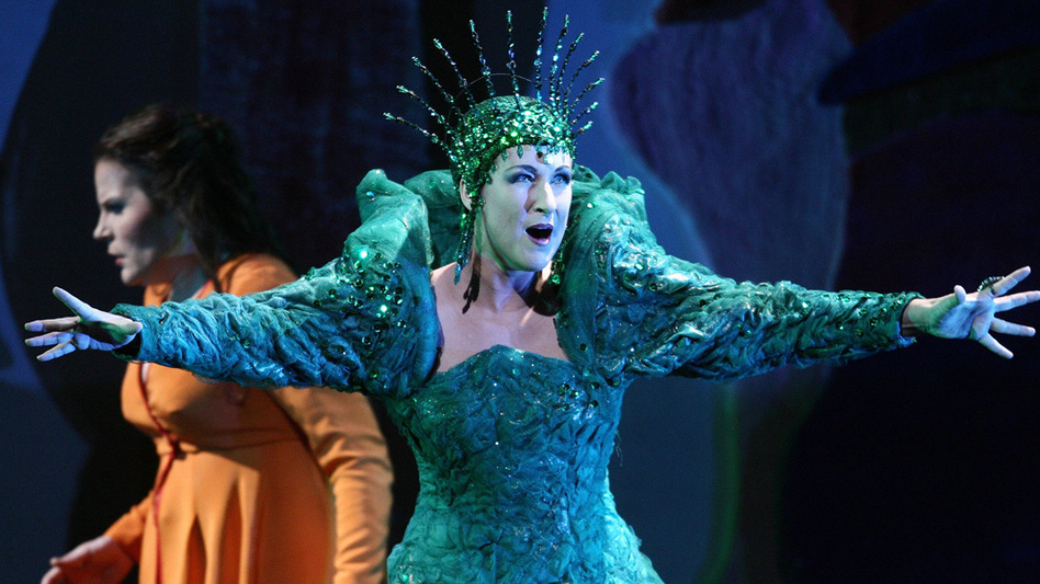 Mozart's Queen of the Night (portrayed here by soprano Diana Damrau), in his <em>The Magic Flute</em>, is one of opera's more intense mothers.