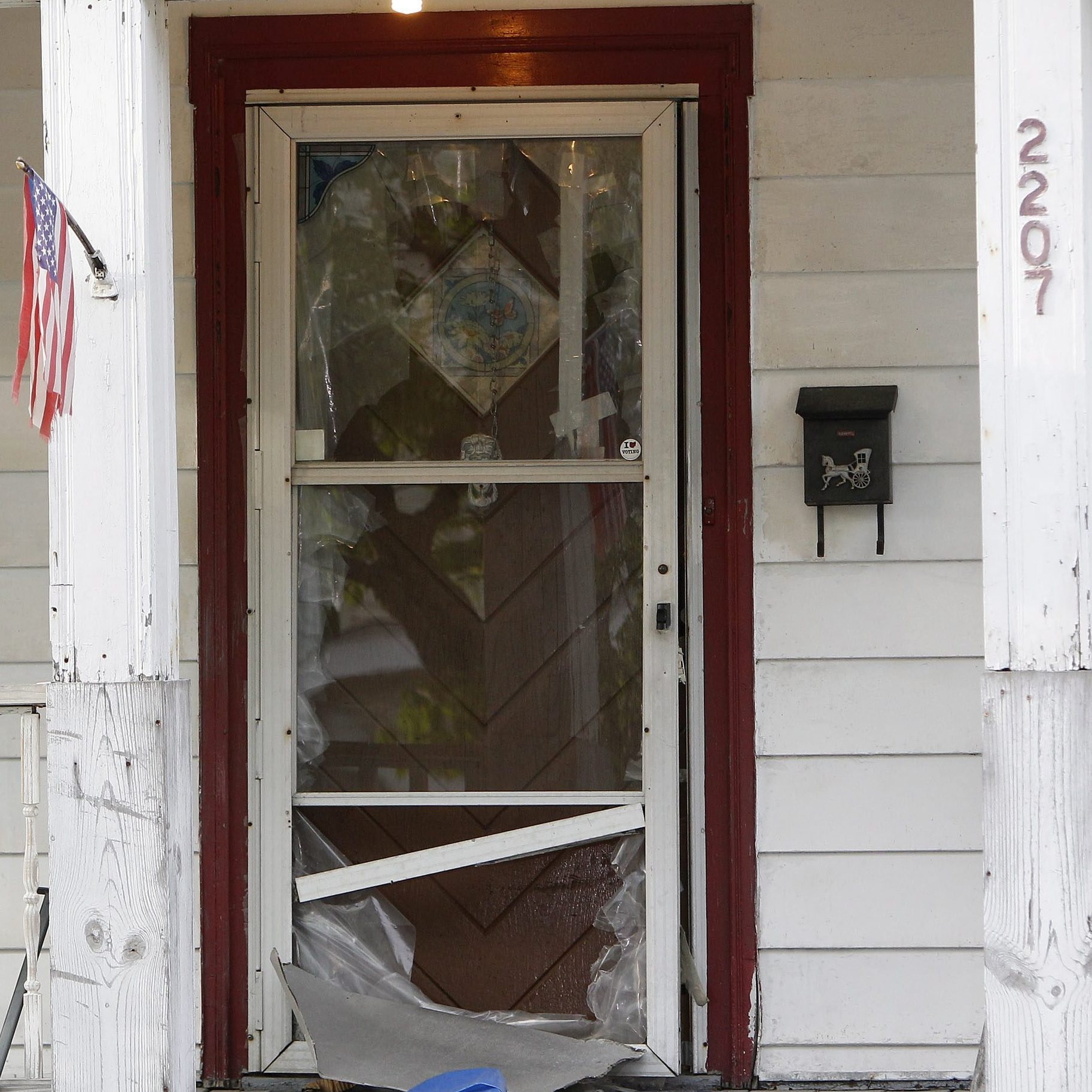 The house at 2207 Seymour Ave. in Cleveland where three young women who had been missing for about a decade were discovered on Monday. With help from a neighbor, victim Amanda Berry was able to escape by breaking through the front door.