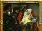 The Procuress, painted by Johannes Vermeer in 1656, hangs in a Dresden, Germany, museum in 2004. While this particular work is not in question, Benjamin Binstock argues that other pieces attributed to the Dutch master are by an apprentice and a member of his household.
