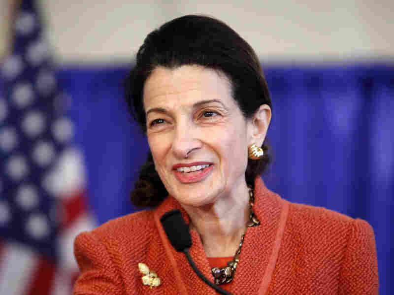 A Republican from Maine, Olympia Snowe served as a U.S. Senator from 1995 to 2013. Above, she speaks at a news conference in South Portland, Maine, in March 2012.