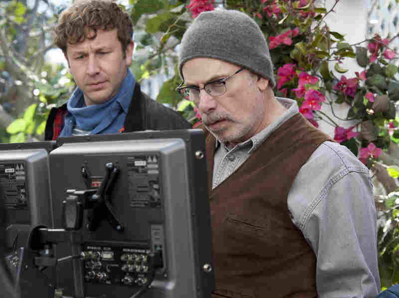 Chris O'Dowd (left) stars in Family Tree, a new HBO show from Christopher Guest (right) and Jim Piddock.