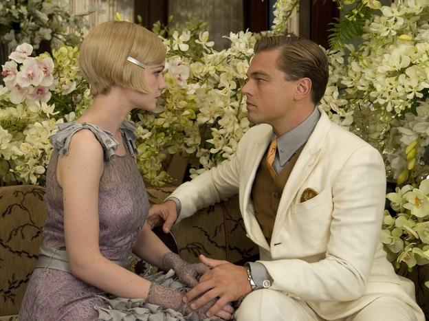 Carey Mulligan and Leonardo DiCaprio in Baz Luhrmann's <em>The Great Gatsby</em>.