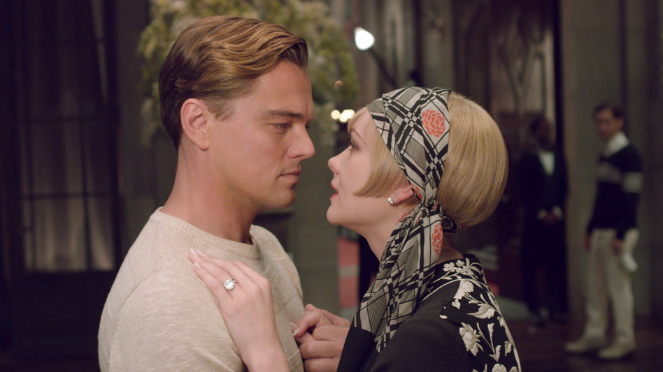 Leonardo DiCaprio and Carey Mulligan star in Baz Lurhmann's adaptation of The Great Gatsby — but the new film's music is so bold it may as well be a character, too. (Courtesy of Warner Bros. Picture)