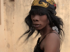 "Dancer Fatou Mboup during JERI-JERI's video for ""Gawlo."""