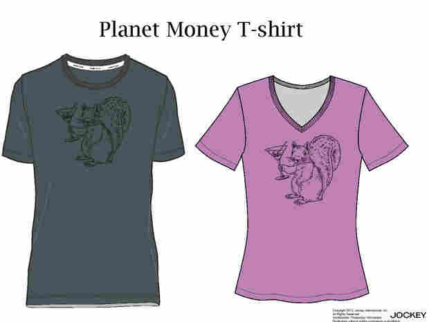 A mockup of the colors of the Planet Money t-shirt.