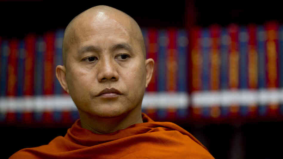 Some Muslims say Buddhist monks have been inciting followers during recent violence in Myanmar. Monk U Wirathu acknowledges that he is a Buddhist nationalist but says he has tried to prevent fighting. He's shown here at the Masoeyein monastery in Mandalay, Myanmar, on March 27.