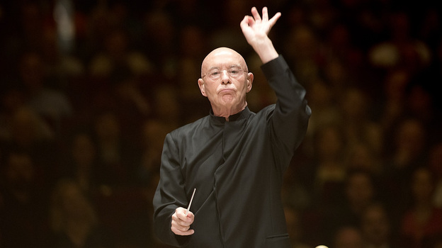 Conductor Christoph Eschenbach and the National Symphony Orchestra gave the final performance in this year's Spring for Music Festival at Carnegie Hall on May 11, 2013. The program was of all 20th-century Russian music: Shchedrin's Slava, Slava; Schnittke's Viola Concerto; and Shostakovich's Fifth Symphony. (Torsten Kjellstrand for NPR)