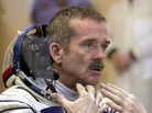 Commander Chris Hadfield discovered the leaking ammonia on Thursday.