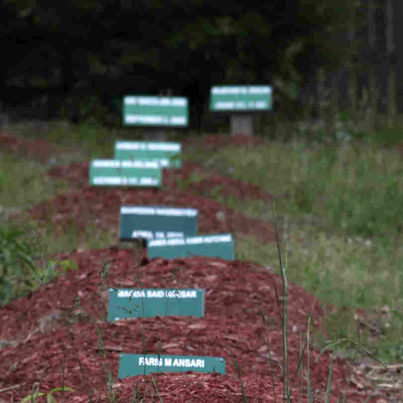 Some of the graves at the Al-Barzakh Islamic Cemetery in Doswell, Va., where the body of Boston Marathon bombings suspect Tamerlan Tsarnaev has been buried. His grave was not identified to journalists.