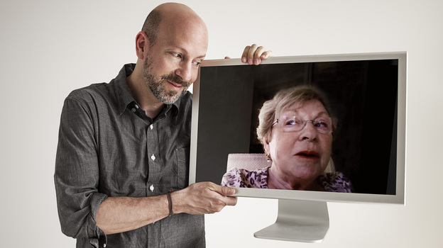 In My Mom on Movies filmmaker Joshua Seftel talks with his mom, Pat, about movies, pop culture and life by webcam. (Courtesy of Phillip Toledano)