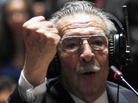 Former Guatemalan dictator Efrain Rios Montt during his trial earlier this week.