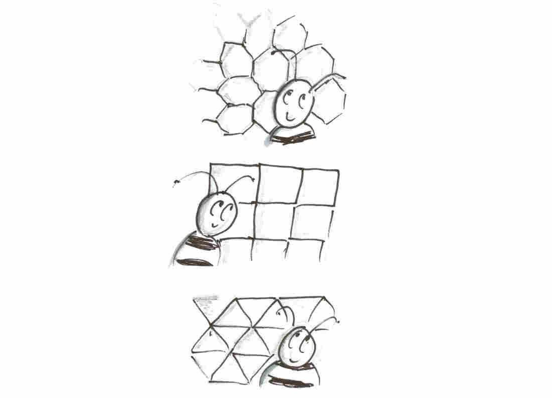 Bees in shapes
