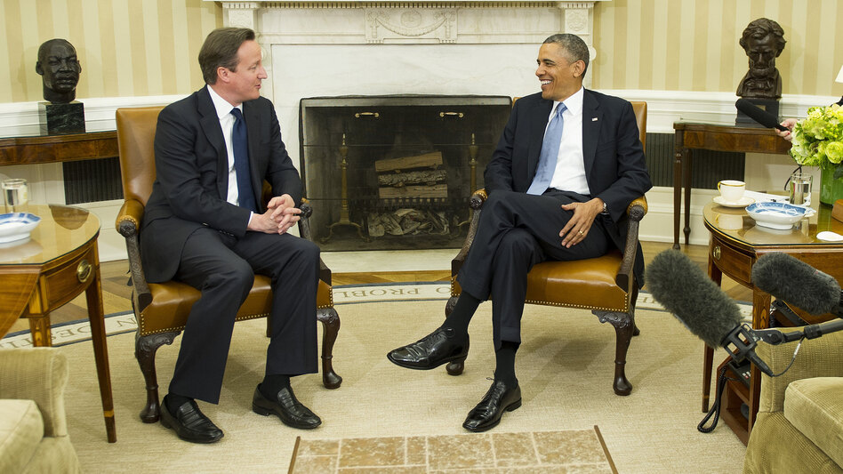 President Obama and British Prime Minister David  Cameron in the Oval Office of the White House on Monday. (AFP/Getty Images)
