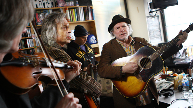 Buddy Miller and Jimmy Lauderdale perform a Tiny Desk Concert at NPR in Washington, D.C., on Feb. 19, 2013. (NPR)