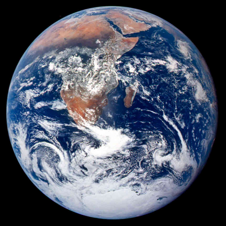 This classic photograph of the Earth was taken on December 7, 1972 by the cre