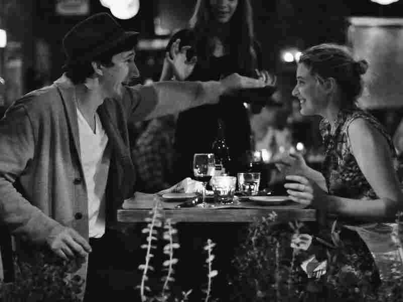 Adam Driver (left), known for his role on HBO's Girls, co-stars with Gerwig in Frances Ha.
