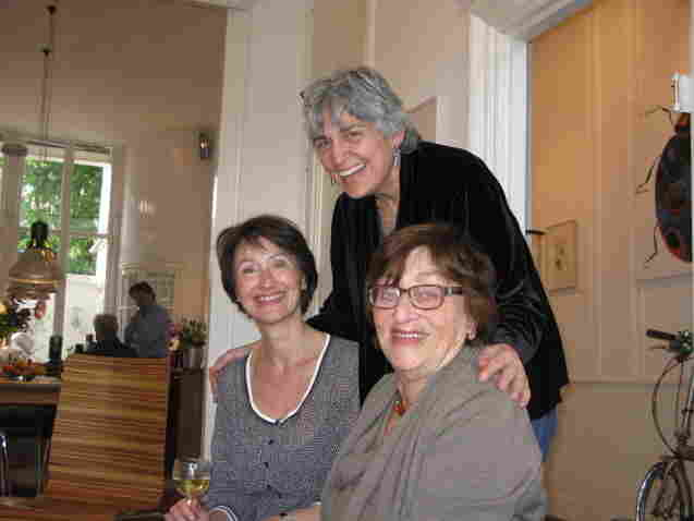 Suzanne Hoogendijk (from right) with Margot Adler and, Hoogendijk's daughter, Fleur, in 2012. Adler was surprised to learn that, like Anne Frank, her cousin had hidden from Nazis during WWII.