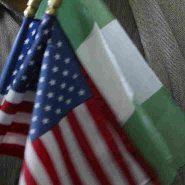 Nigerian and American flags