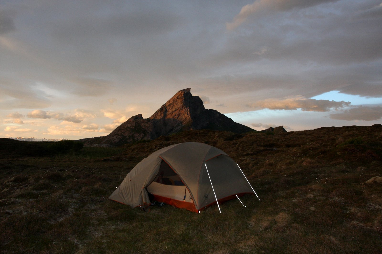 During the summer months, the sun hardly ever sets. Chen snapped this photo on a camping outing at 2 a.m.