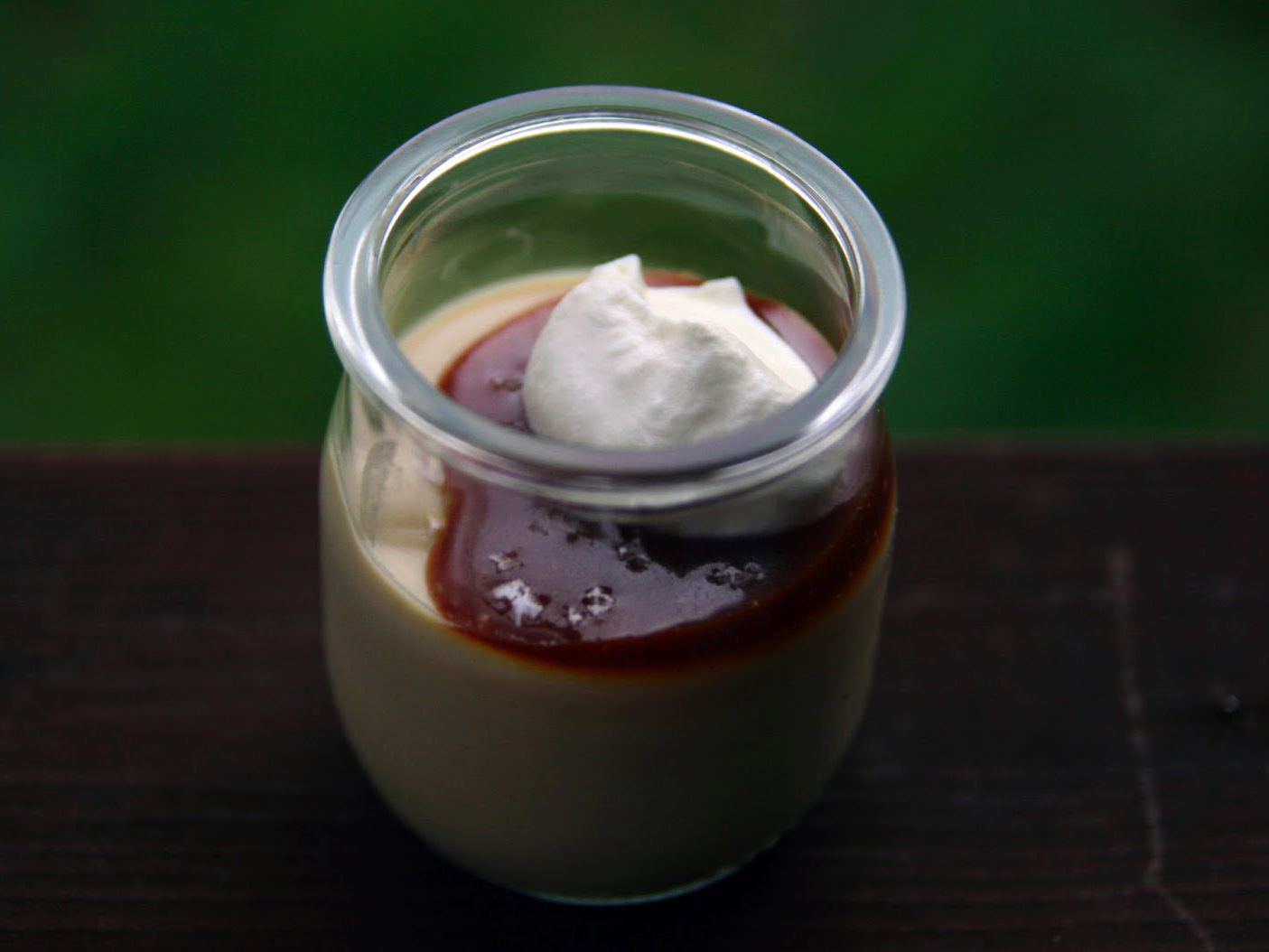 Butterscotch Budino With Caramel Sauce And Salt