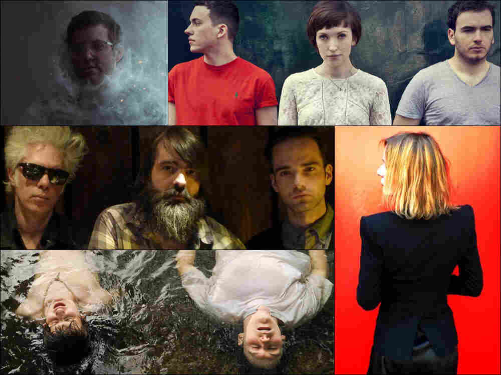 Clockwise from upper left: Baths, Daughter, Sam Phillips, The Front Bottoms, SQURL