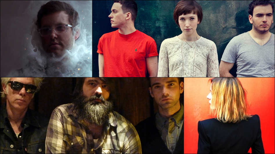 Clockwise from upper left: Baths, Daughter, Sam Phillips, The Front Bottoms, SQURL (Courtesy of the artists)
