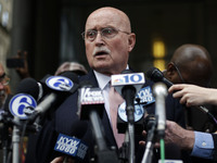 Jack McMahon, the defense attorney for abortion doctor Kermit Gosnell, speaks outside the Philadelphia courthouse after the guilty verdicts Monday.