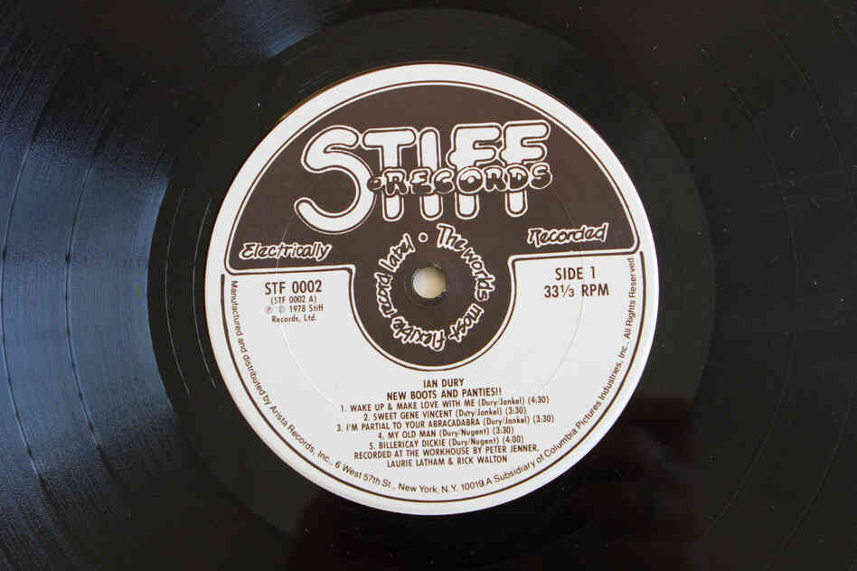 Stiff Records(New Boots and Panties!! by Ian Dury, 1977)