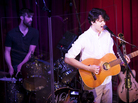 Chris Tomson (left) and Ezra Koenig of Vampire Weekend perform at Apogee's Berkeley Street Studio in Santa Monica, Calif.