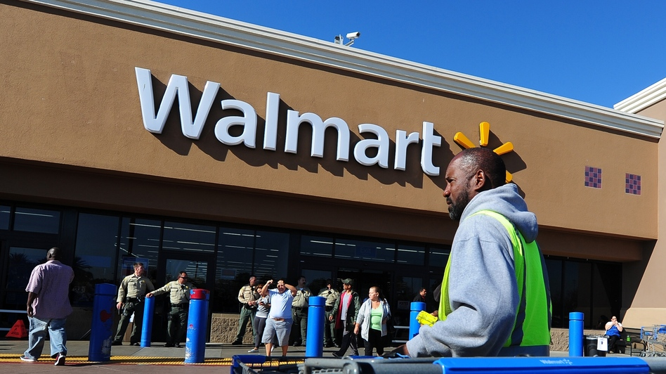 A Wal-Mart store in Paramount, Calif. The company announced it would conduct its own inspections at Bangladeshi factories that produce its goods rather than joining an agreement with other Western retailers. (AFP/Getty Images)