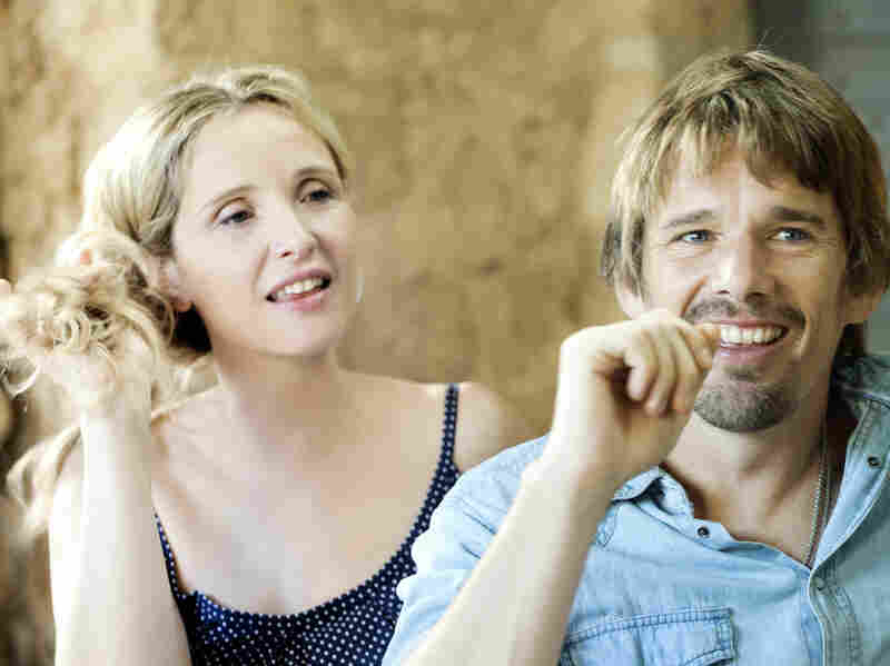 Linklater's three films in the series are separated by nine-year increments that follow Celine (Delpy) and Jesse (Hawke) as they meet and fall in love and pair up. In Before Midnight, the two are the parents of twins.