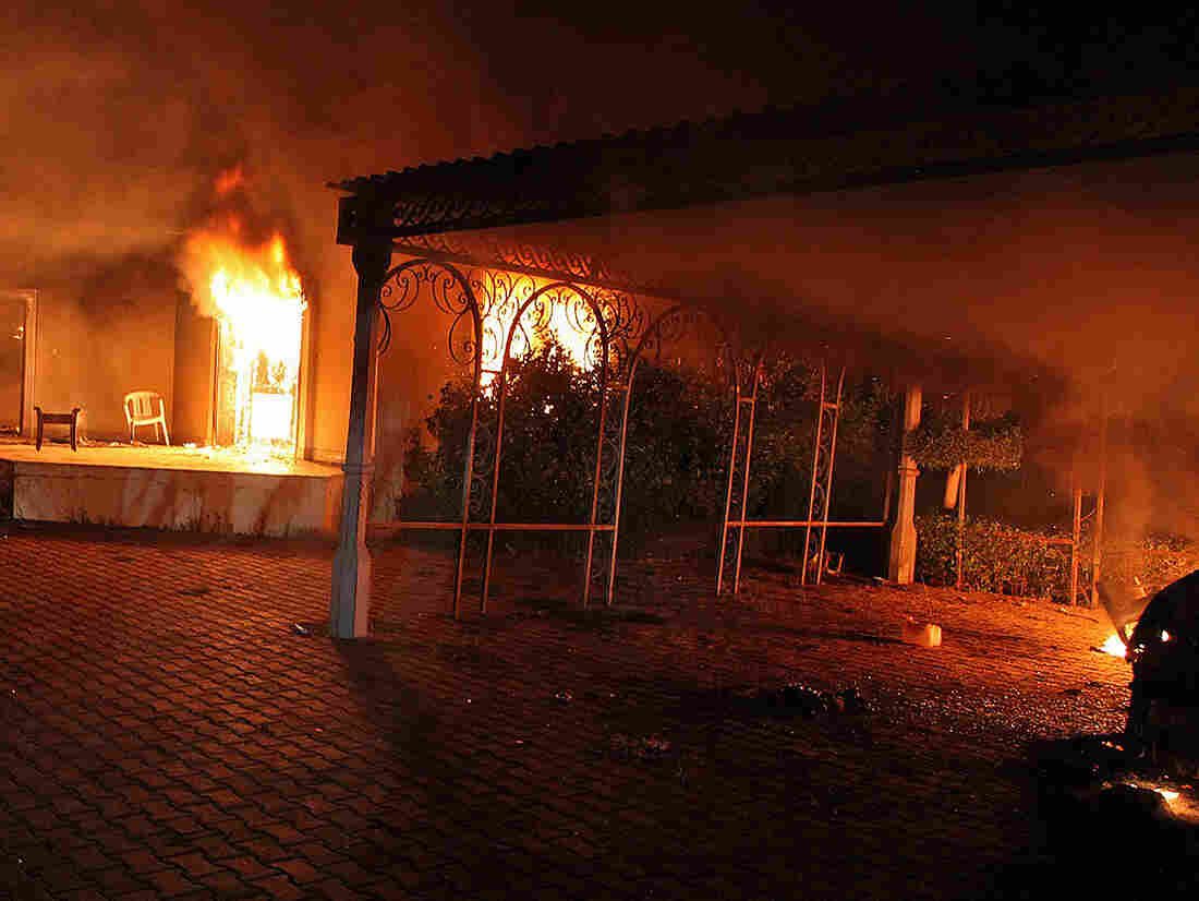 Sept. 11: The U.S. consulate in Benghazi, Libya, was aflame after coming under at