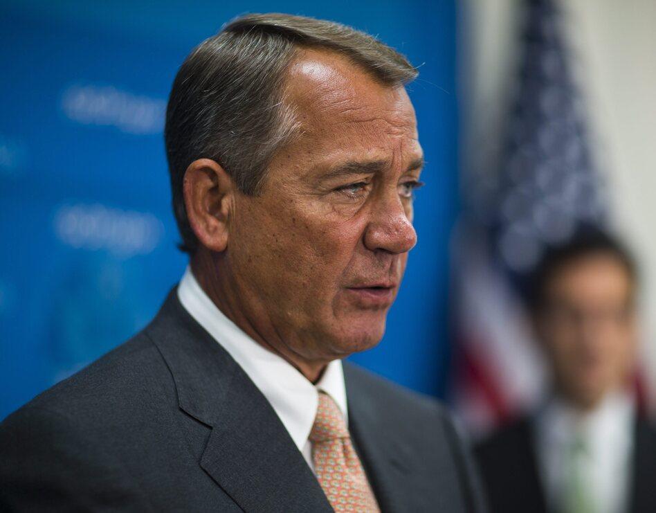 House Speaker John Boehner on Wednesday in the Capitol. (Jim Lo Scalzo /EPA /LANDOV)