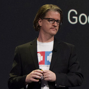 Chris Yerga, engineering director for Android at Google Inc., speaks at the company's I/O Annual Developers Conference in San Francisco on Wednesday.