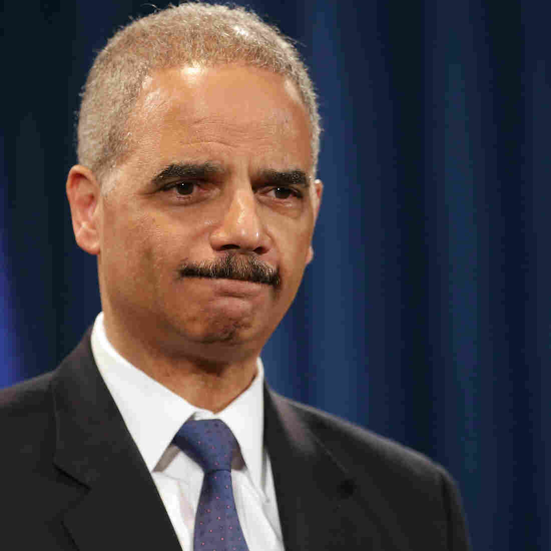 Attorney General Eric Holder during a news conference Tuesday in Washington, D.C.