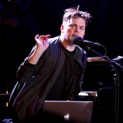 Composer Nico Muhly at the piano in a live performance at LPR on May 14, 2013.