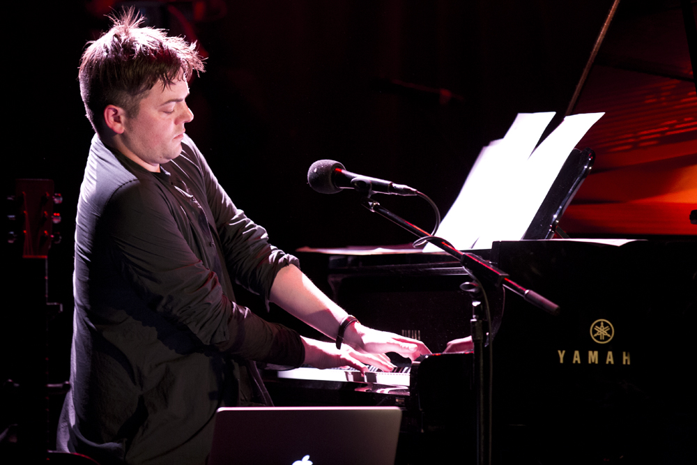 "Muhly opened the show with A Hudson Cycle (for solo piano) which he composed as a wedding gift for friends and describes as, ""music of longing and anticipation."""